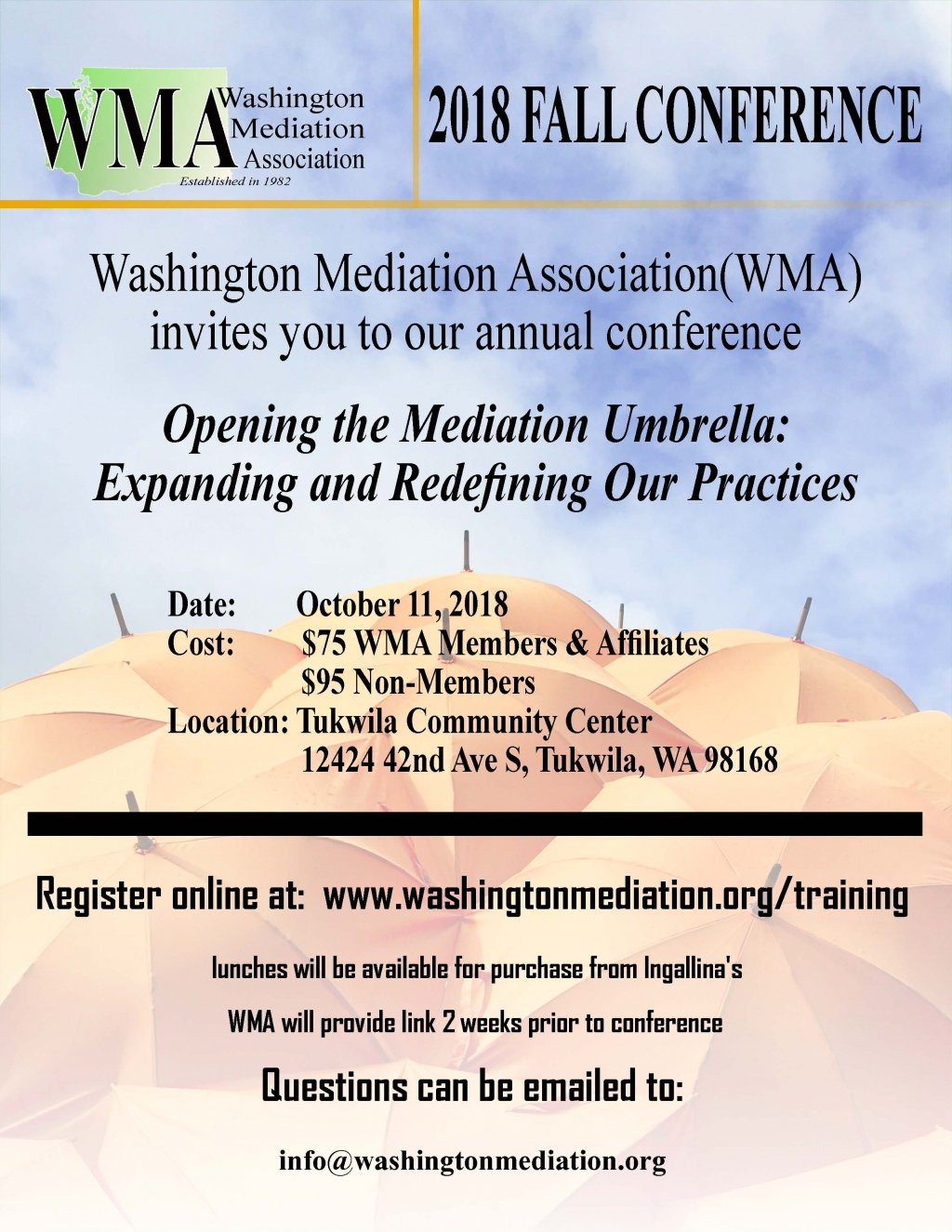 WMA's 2018 Conference flyer